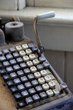 Old, antiquated adding machine Stock Photography