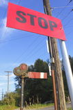 Old, Antiquated Train Stop Signal Stock Images