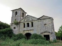 Old antique abandoned convent Royalty Free Stock Images