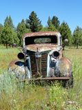 OLD ANTIQUE ABANDONED GMC TRUCK IN IDAHO Stock Photo
