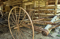 Old Plow. An old antique agricultural plow Royalty Free Stock Images
