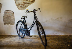 Old antique bicycle Stock Image