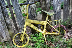 Old antique bicycle Royalty Free Stock Photos