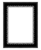 Old antique black frame Isolated on white background Stock Photography