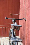 Old antique black men`s bicycle Royalty Free Stock Photo