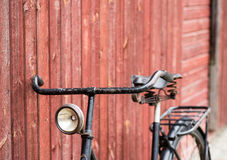 Old antique black men`s bicycle Royalty Free Stock Images