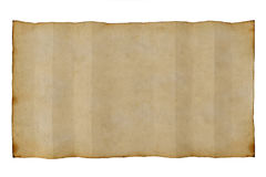 Old antique blank paper on white background Stock Photo