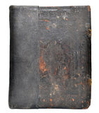 Old antique book cover. Vintage texture, isolated on white background Stock Photos