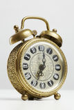 Old antique brass alarm clock Royalty Free Stock Photo