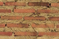 Old antique brick background. At the temple Stock Photography