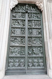 Old antique bronze doors Stock Photography