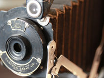 Old Antique Camera. Old fashioned vintage antique kodak camera stock images