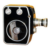 Old antique camera isolation. Royalty Free Stock Image