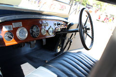 Old antique car interior Stock Image