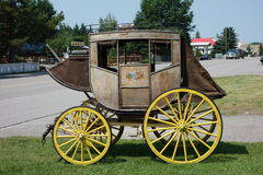 An old antique carriage on display in alberta. Stock Image