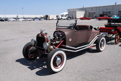 Old antique cars. Local auto show and cars for sale in St. Louis Missouri Royalty Free Stock Image
