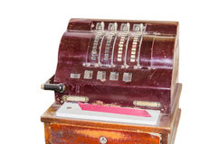 Old antique cash register Royalty Free Stock Photos