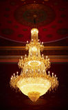 Old antique chandelier - ceiling of temple Stock Images
