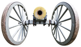 Old Antique Civil War Artillery Cannon Isolated Stock Photo