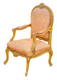 Old antique classic style vintage gilded wooden chair Stock Image