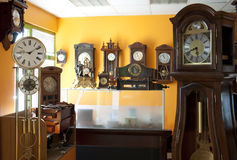 Old antique clocks Royalty Free Stock Photo