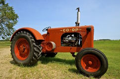 Old antique Co-op tractor Stock Images