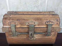 Old antique coffer. An old rusty antique coffer Stock Photos