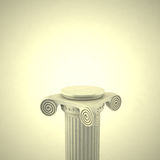 Old Antique Column 3D. The Old Antique Column 3D Royalty Free Stock Photos