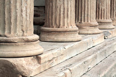 Old antique columns Royalty Free Stock Photos