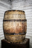 Old antique decorative wood whisky barrel Stock Photography