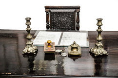 Old antique desk Stock Image