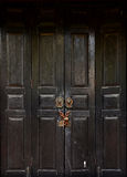 Old antique door Stock Photo