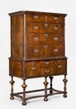 Old antique European dresser or chest of drawers Royalty Free Stock Images