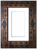 Old antique frame over white background Stock Photos