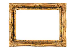 Old antique gold frame Royalty Free Stock Image