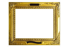 Old antique gold frame Stock Image