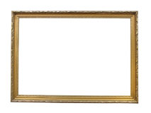 Old antique gold plated wooden picture frame Royalty Free Stock Photos