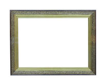 Old antique gold plated wooden picture frame Stock Photos