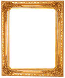 Old antique golden frame isolated on white background Royalty Free Stock Photography