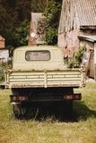 old antique green pickup Royalty Free Stock Images