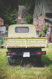 old antique green pickup Royalty Free Stock Photo