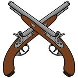 Old Antique Guns Royalty Free Stock Photography