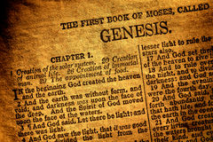 Free Old Antique Holy Bible Book Genesis Chapter Text Stock Images - 24467004