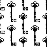 Old antique key seamless background pattern Royalty Free Stock Photo