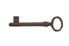 Old antique key on white background. Old key isolated on white background Royalty Free Stock Images