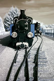 Old and antique locomotive. Royalty Free Stock Photo