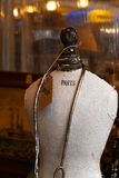 Old Antique Mannequin Paris with Necklace Royalty Free Stock Images