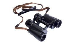 Old antique military binoculars Royalty Free Stock Image