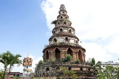 Jedi Sriphuak Hong stupa in Chiang Mai, Thailand stock images