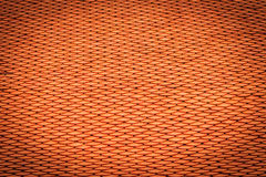 Old antique orange roof tiles pattern at the buddha temple in th Stock Photography